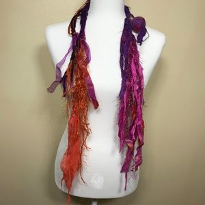 Crazy fun colorful scarf